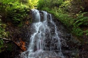 wodospad w Rudawce wpadający do Wisłokaa